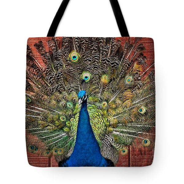 Peacock Tails Tote Bag by Paul Ward