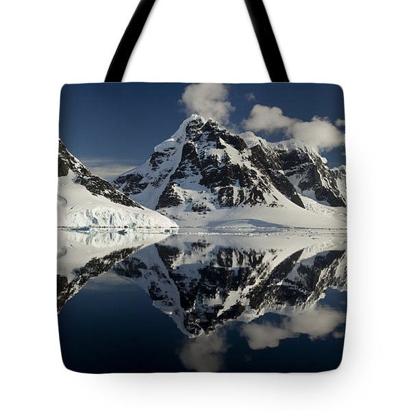 Peaks Along  Neumayer Channel Tote Bag by Colin Monteath
