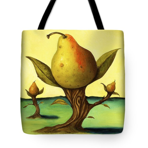 Pear Trees 2 Tote Bag by Leah Saulnier The Painting Maniac