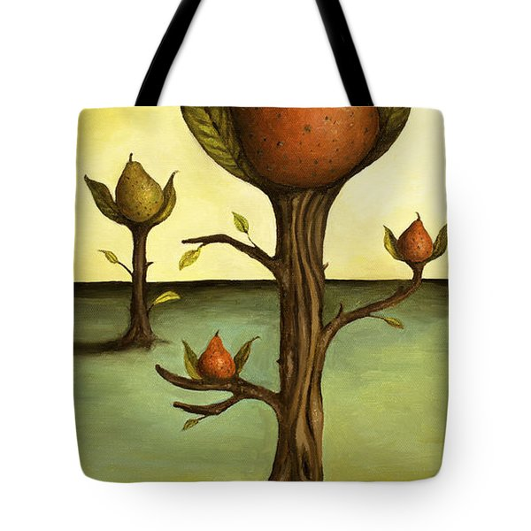 Pear Trees Tote Bag by Leah Saulnier The Painting Maniac