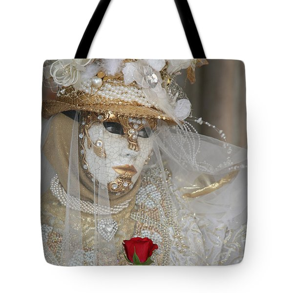 Pearl Bride With Rose 2 Tote Bag