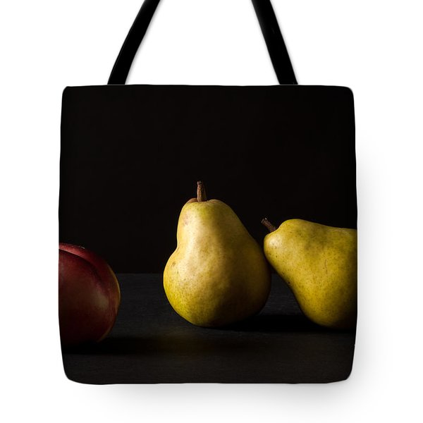 Pears And Peach Tote Bag by Catherine Lau