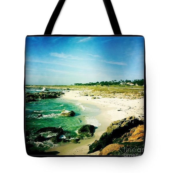 Tote Bag featuring the photograph Pebble Beach by Nina Prommer