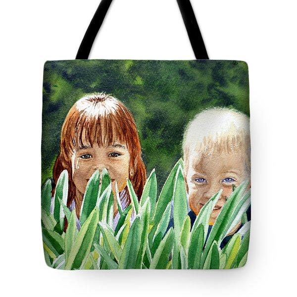 Peekaboo Tote Bag by Irina Sztukowski