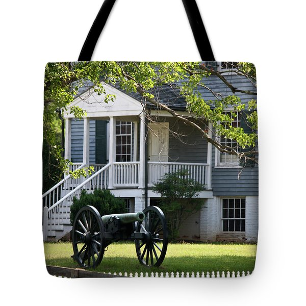 Peers House And Cannon Appomattox Court House Virginia Tote Bag by Teresa Mucha