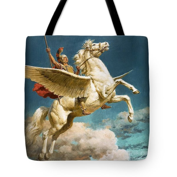 Pegasus The Winged Horse Tote Bag by Fortunino Matania