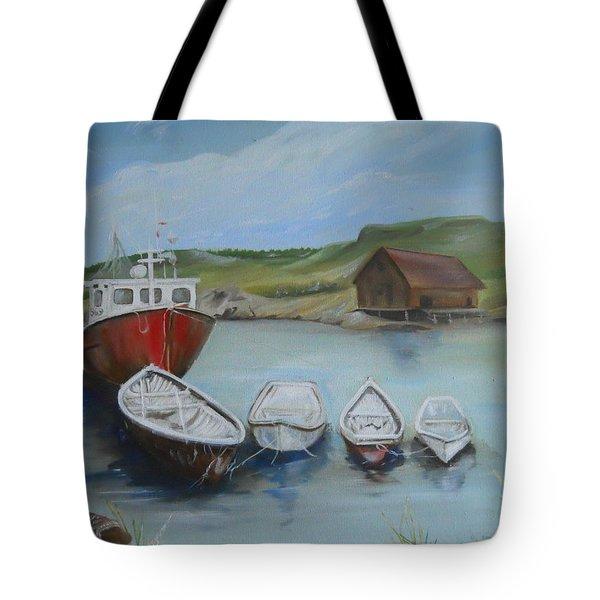 Peggy's Cove Tote Bag by Joyce Reid