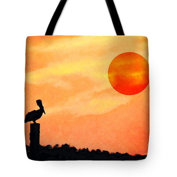 Tote Bag featuring the photograph Pelican During Hot Day by Dan Friend