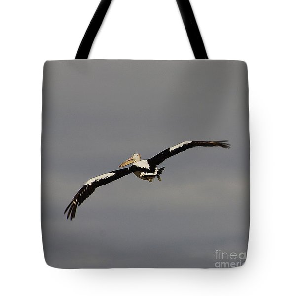 Tote Bag featuring the photograph Pelican In Flight 2 by Blair Stuart