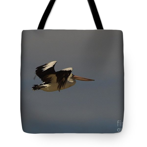 Tote Bag featuring the photograph Pelican In Flight 3 by Blair Stuart