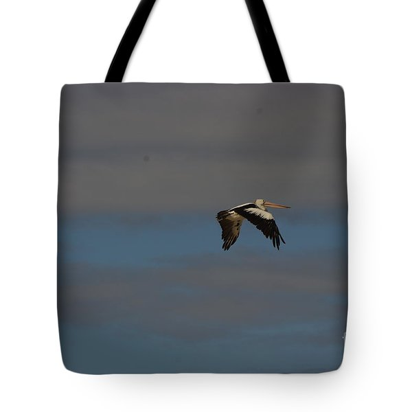 Tote Bag featuring the photograph Pelican In Flight 4 by Blair Stuart