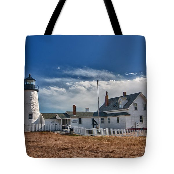 Pemaquid Point Lighthouse 4800 Tote Bag by Guy Whiteley