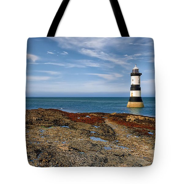 Penmon Point Lighthouse Tote Bag by Adrian Evans