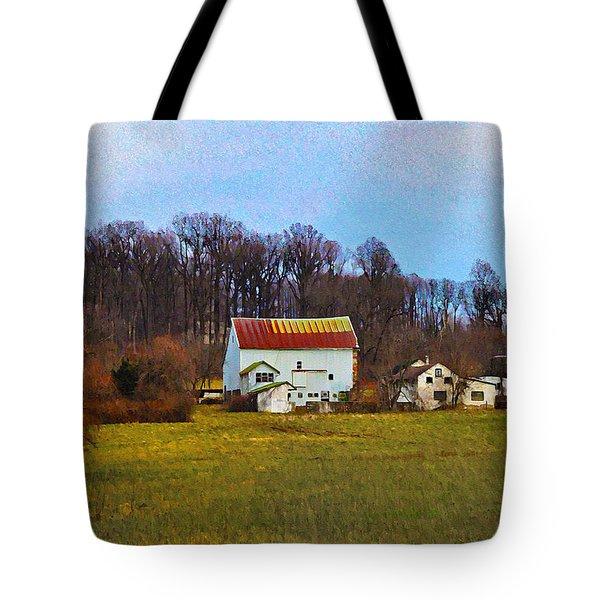 Pennsylvaina Farm Scene Tote Bag by Bill Cannon
