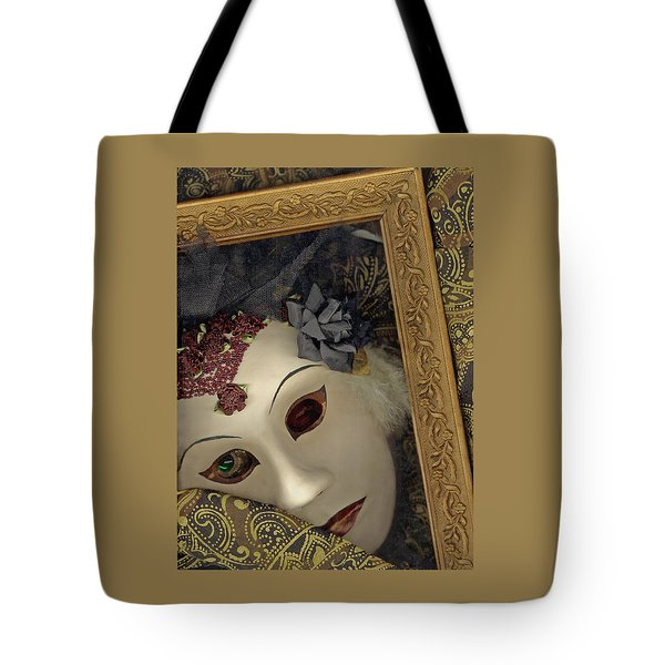Tote Bag featuring the mixed media Pensive by Nareeta Martin