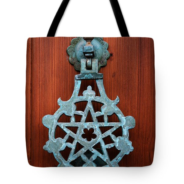 Pentagram Knocker Tote Bag