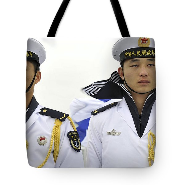 Peoples Liberation Army Navy Sailors Tote Bag by Stocktrek Images