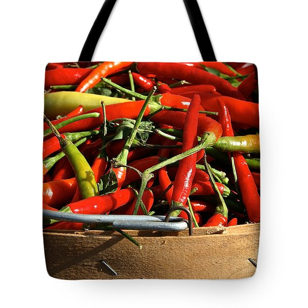Peppers And More Peppers Tote Bag by Susan Herber