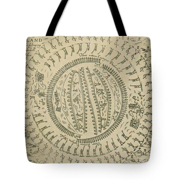 Pequot War Mystic Massacre 1637 Tote Bag by Photo Researchers