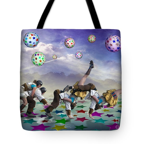 Tote Bag featuring the digital art Perfect Coupling by Rosa Cobos