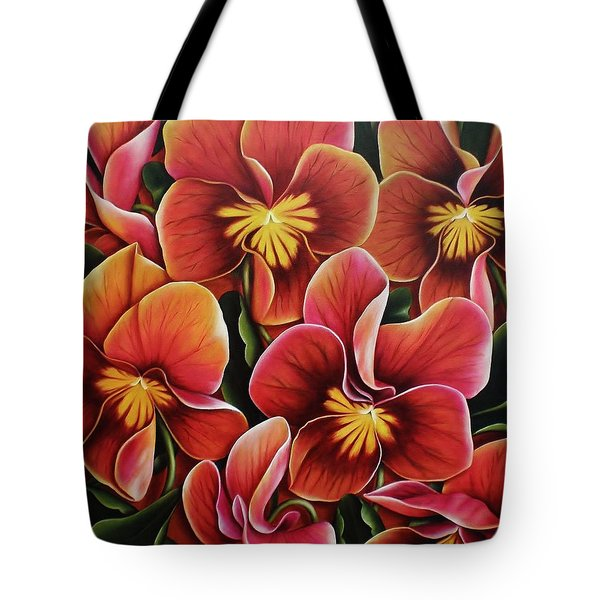 Tote Bag featuring the painting Perfect Love  by Paula L