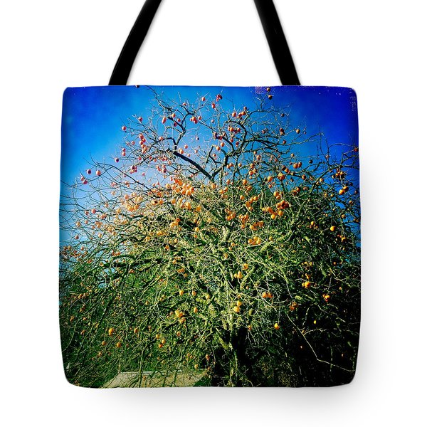 Persimmon Tree Tote Bag