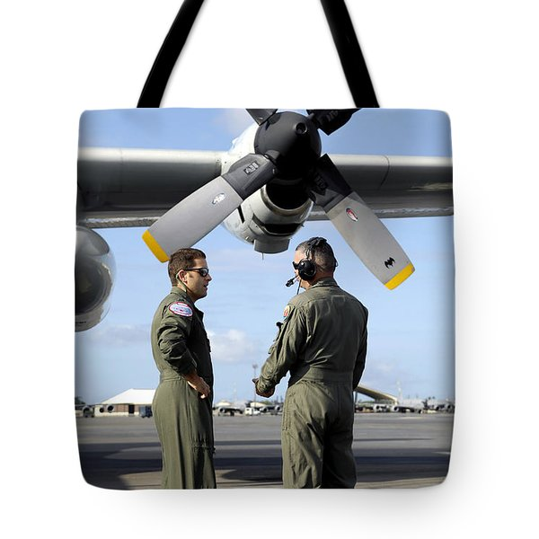 Personnel Conduct A Pre-flight Briefing Tote Bag by Stocktrek Images