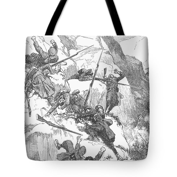 Peru: Battle Of Ayacucho Tote Bag by Granger