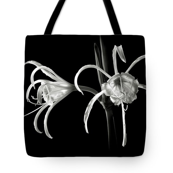 Peruvian Daffodil In Black And White Tote Bag