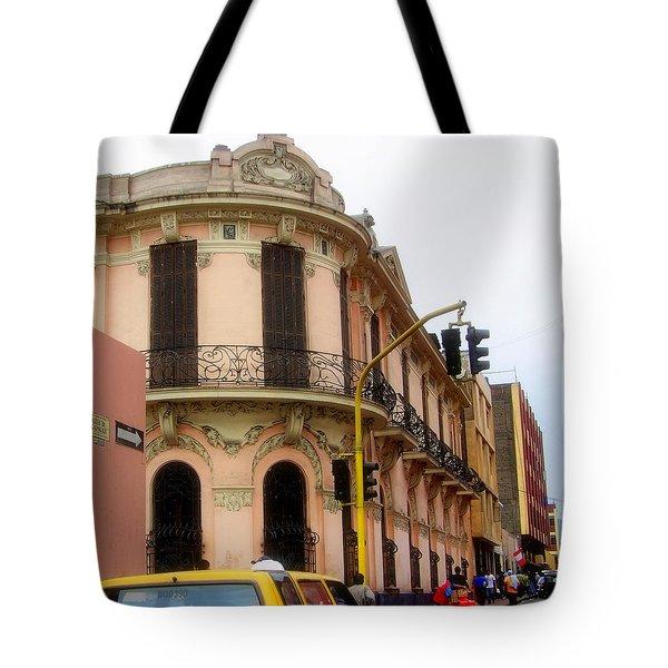 Peruvian Streets Tote Bag by Karen Wiles