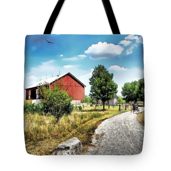 Peter Stuckey Farm Tote Bag by Tom Schmidt