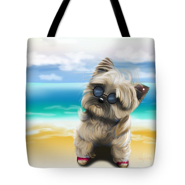 Petey In Coney Island Tote Bag