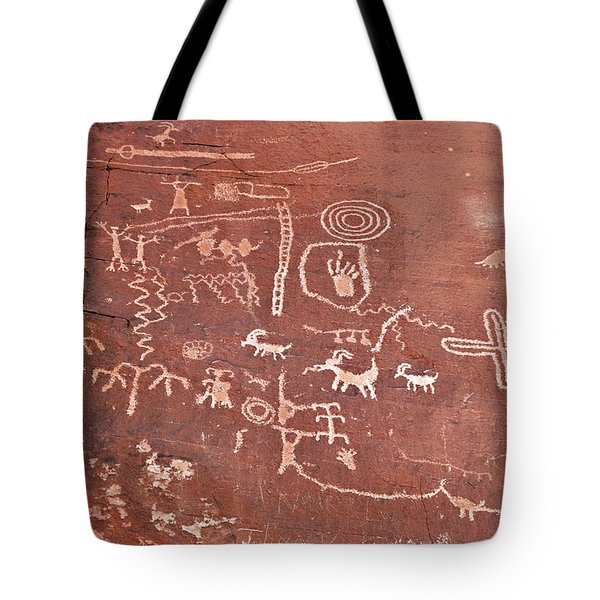 Petroglyph Canyon - Valley Of Fire Tote Bag by Christine Till