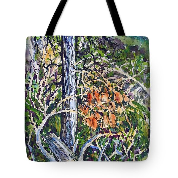Petroglyph Pines Tote Bag