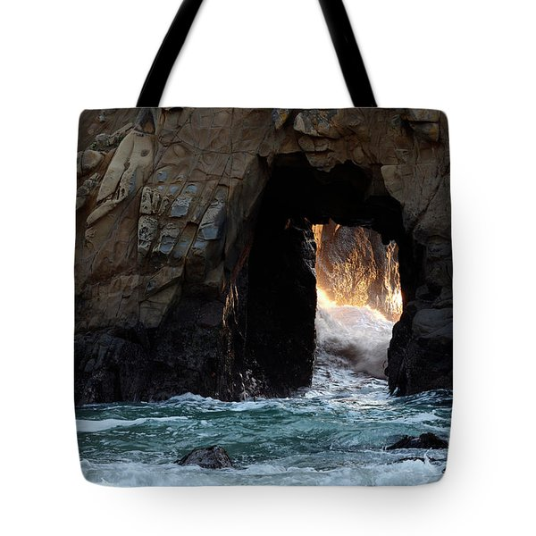 Pfeiffer Rock Big Sur Tote Bag by Bob Christopher