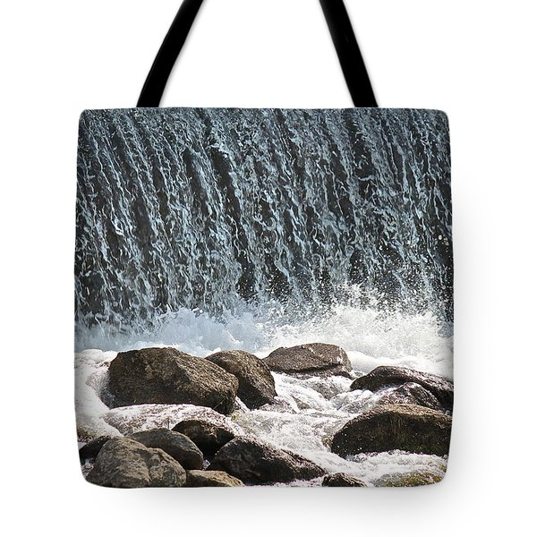 Tote Bag featuring the photograph Phelps Mill Dam by Penny Meyers