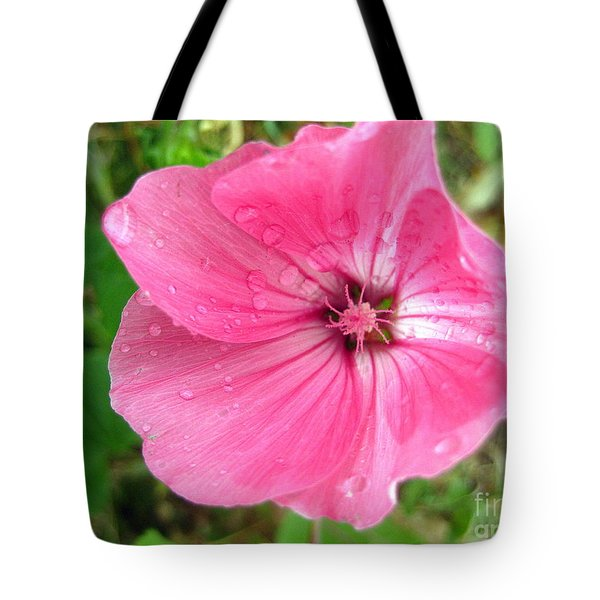 Rain Floral Tote Bag by Kathy Bassett