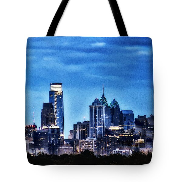 Philadelphia At Night Tote Bag by Bill Cannon