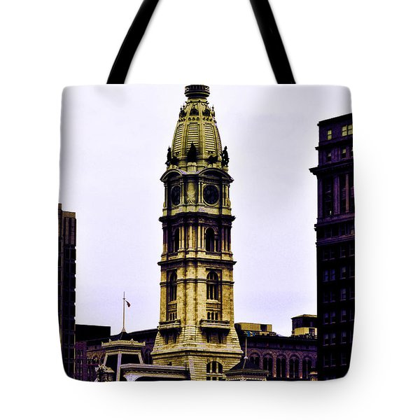 Philadelphia City Hall Tower Tote Bag by Bill Cannon