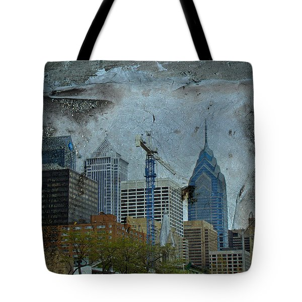 Philadelphia Skyline Tote Bag by Mother Nature