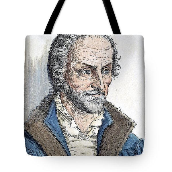 Philipp Melanchthon (1497-1560). German Scholar And Religious Reformer: Line Engraving, German, 19th Century Tote Bag by Granger