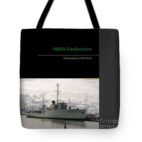 Tote Bag featuring the mixed media Photobook On Hmas Castlemaine by Blair Stuart