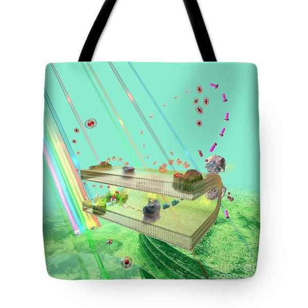 Tote Bag featuring the digital art Photosynthesis by Russell Kightley