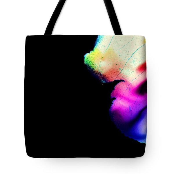 Tote Bag featuring the photograph Phycadelic Leaf by Jessica Shelton