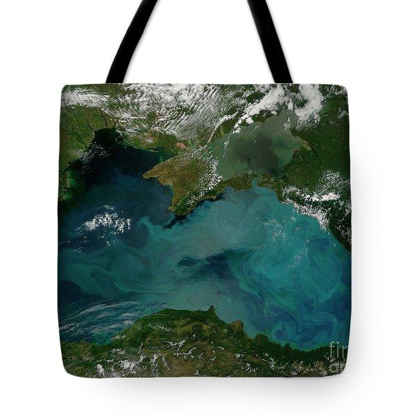 Phytoplankton Bloom In The Black Sea Tote Bag by Stocktrek Images