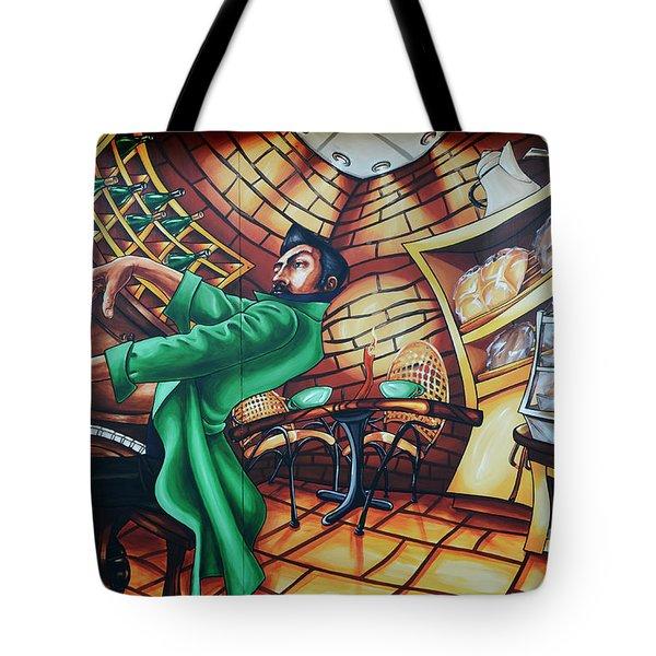Piano Man 2 Tote Bag by Bob Christopher