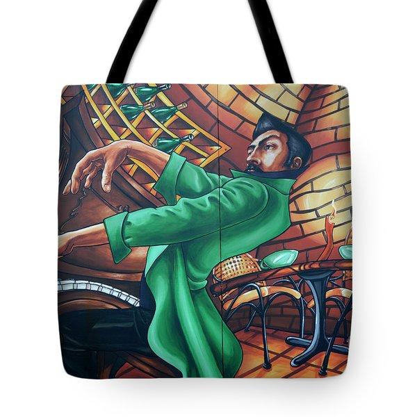 Piano Man 4 Tote Bag by Bob Christopher