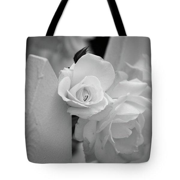 Picket Rose Tote Bag