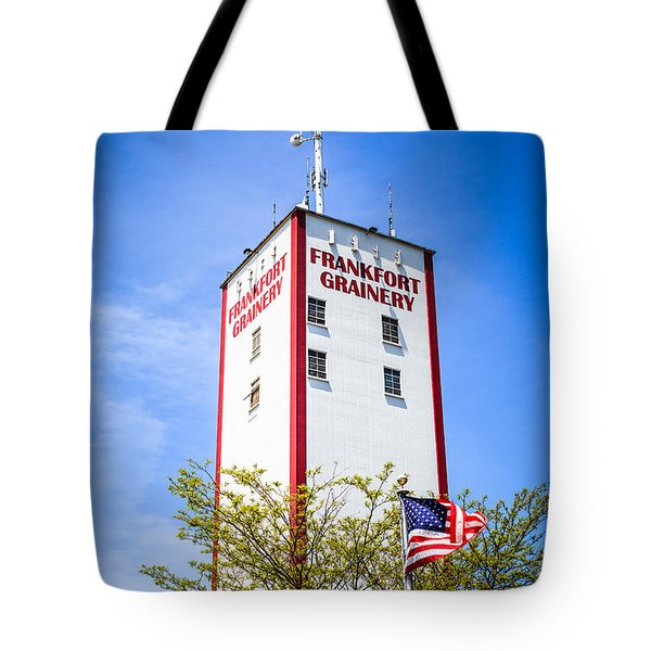 Picture Of Frankfort Grainery In Frankfort Illinois Tote Bag by Paul Velgos