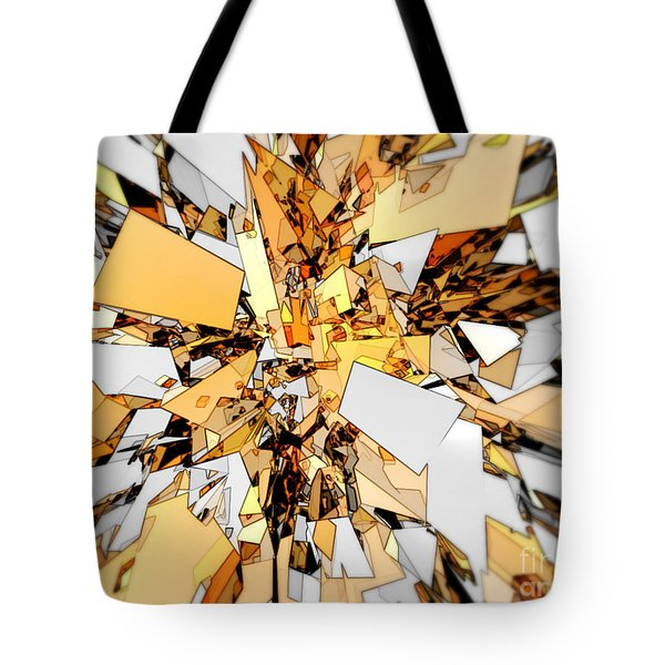 Tote Bag featuring the digital art Pieces Of Gold by Phil Perkins